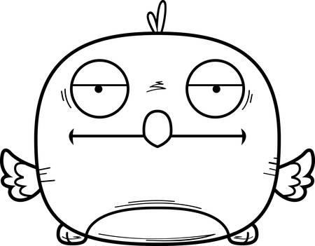 A cartoon illustration of a bluebird looking bored.  イラスト・ベクター素材