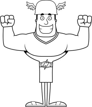 A cartoon Hermes smiling. Illustration