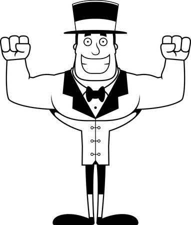 A cartoon ringmaster smiling. Stock fotó - 102348329