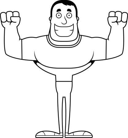 A cartoon man smiling. Stock fotó - 102510539