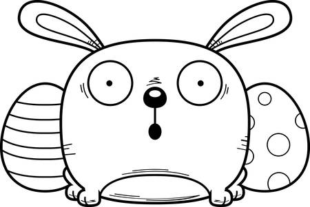 A cartoon illustration of the Easter Bunny looking surprised.