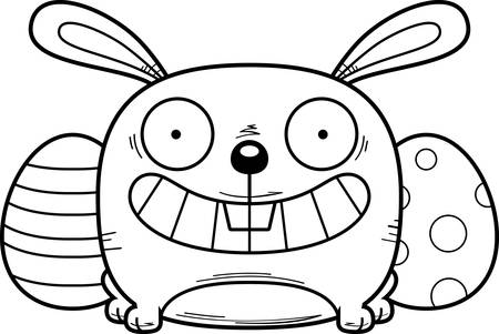 A cartoon illustration of the Easter Bunny looking happy.