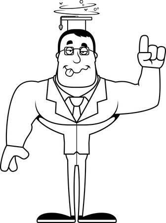 A cartoon teacher looking drunk.  イラスト・ベクター素材