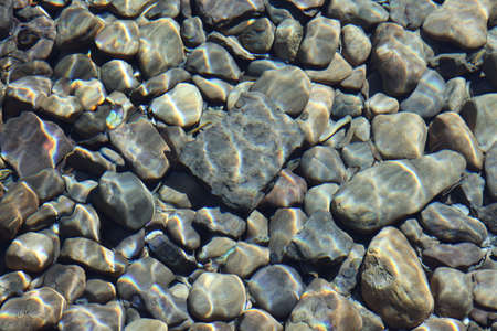 River rock abstract