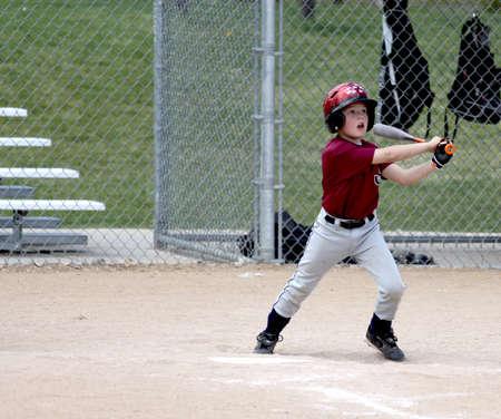 Little league baseball player batting Stok Fotoğraf - 21144293