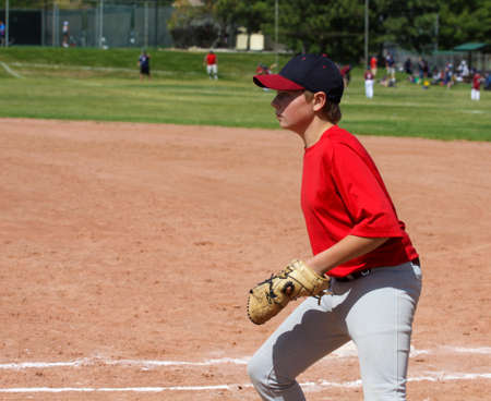 Young male baseball player