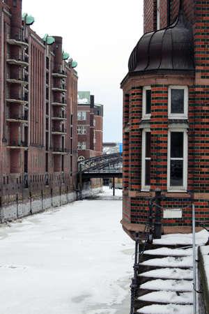 invierno en Hamburgo Foto de archivo