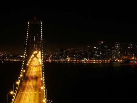darkness over Oakland Bridge