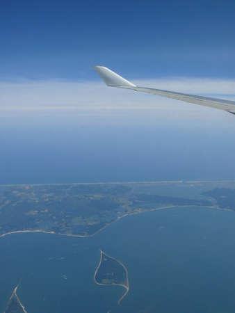 flight over the coast