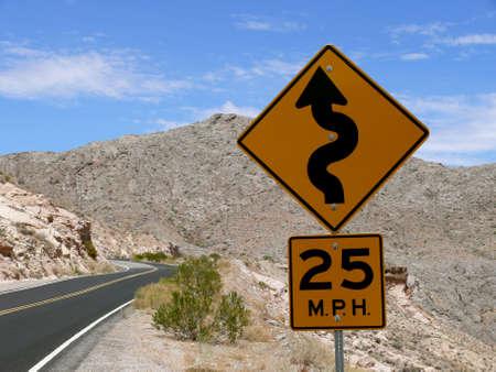 dangerous curves Stock Photo
