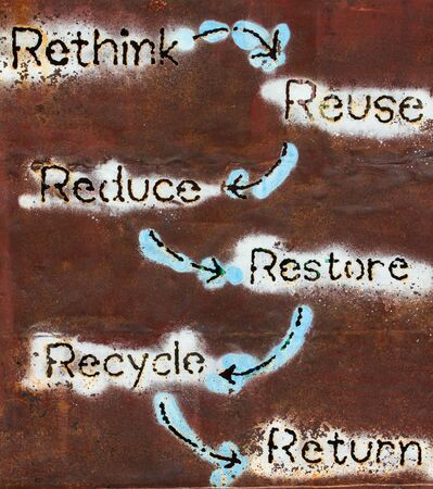 Rethink Reuse Reduce Restore Recycle Return Stock Photo - 16444384