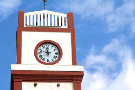 時計塔のクローズ アップ 写真素材