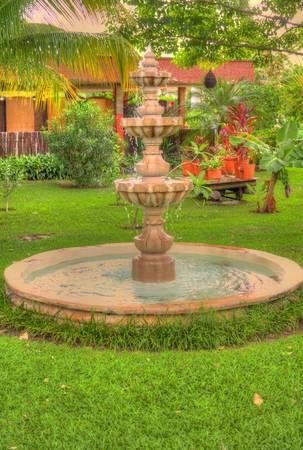 庭園内の噴水