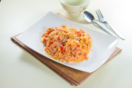 rice plate: fried rice