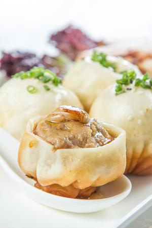 foie gras pork pan fried dumpling