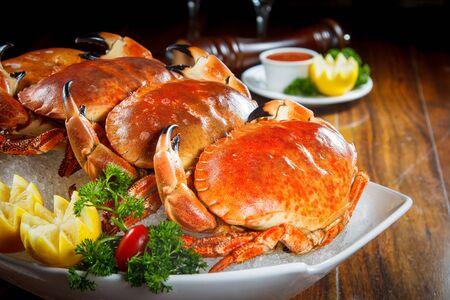 crab legs: boiled crab