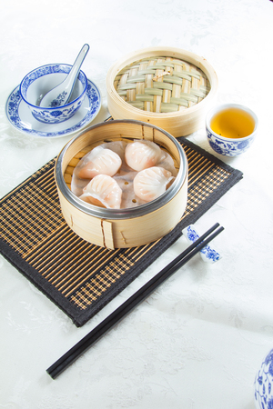 A photo of dim sum
