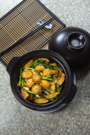 A photo of abalone casserole