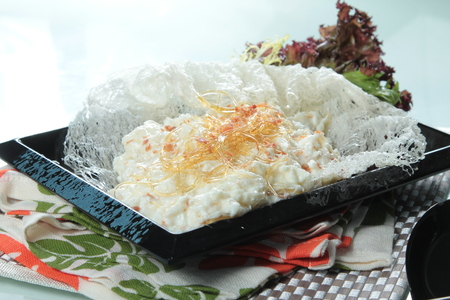 A photo of fried egg white