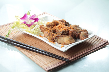 A photo of deep fried oyster