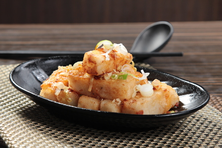 A photo of radish cake Stock Photo
