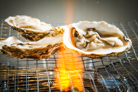 mussel: A photo of grilled oyster