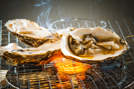 A photo of grilled oyster