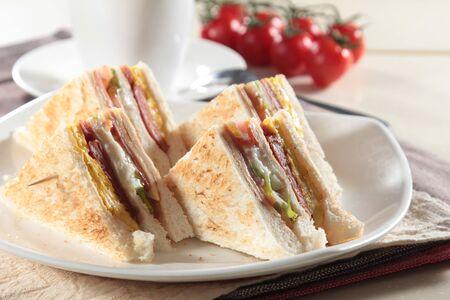 sandwich board: A photo of sandwich Stock Photo