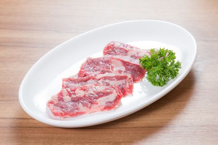 A photo of raw beef Stock Photo
