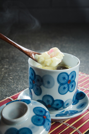 A cuisine photo of steamed egg