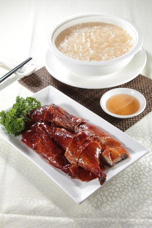 barbary: A cuisine photo of barbecued goose Stock Photo