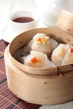 A cuisine photo of dim sum