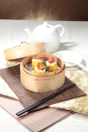 A cuisine photo of dim sum