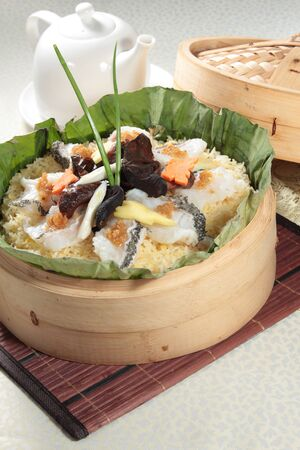 A cuisine photo of steamed rice