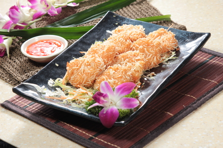 pla: A cuisine photo of deep fried fish cake