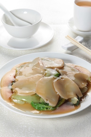 A cuisine photo of braised abalone Stock Photo