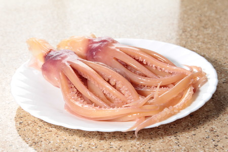 A cuisine photo of squid tentacle Stock Photo