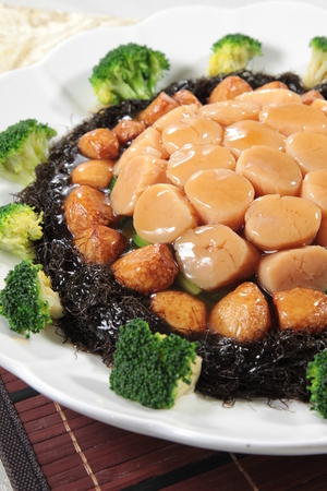 A cuisine photo of braised scallop
