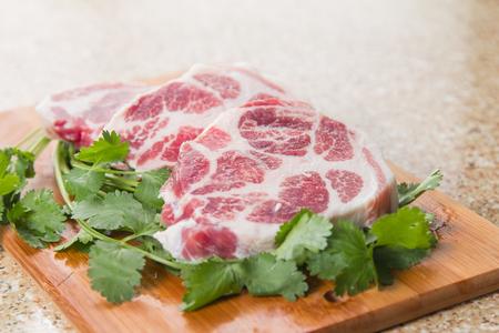 A cuisine photo of raw beef steak Stock Photo