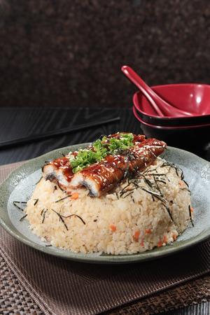 A cuisine photo of eel rice Stock Photo