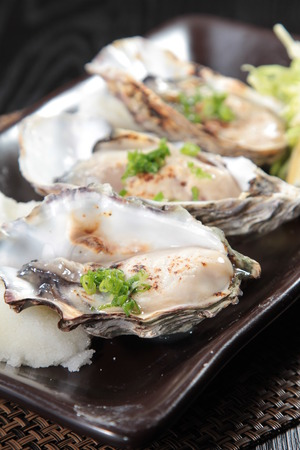 A cuisine photo of oyster Stock Photo