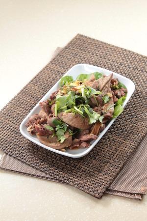 A cuisine photo of fried pork intestine 版權商用圖片