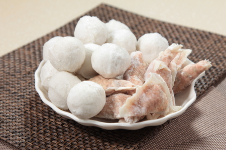 A cuisine photo of Raw dumpling