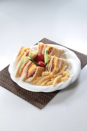 A cuisine photo of sandwich Stock Photo