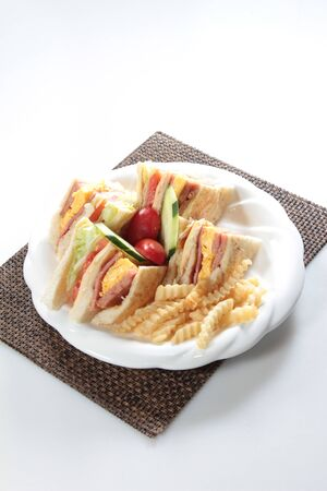 sandwich board: A cuisine photo of sandwich Stock Photo