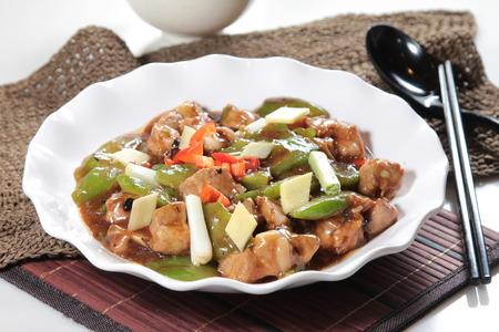 A cuisine photo of fried pork