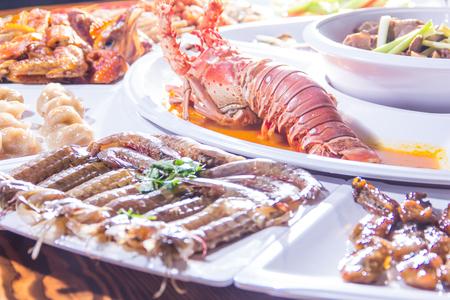 A cuisine photo of assorted cuisine Foto de archivo