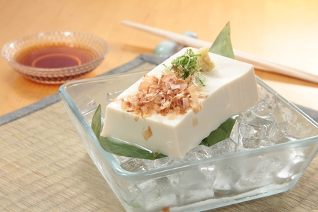 A cuisine photo of bean curd Stock Photo