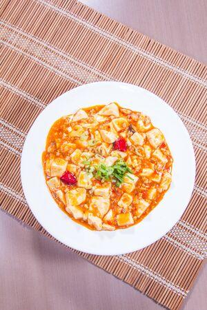 A cuisine photo of bean curd Stock Photo