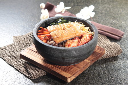 A cuisine photo of bibimbap Foto de archivo